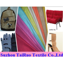 100% Polyester Microfiber Suede for Shoes Fabric