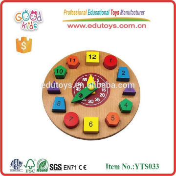 Clock Gute Kinder Spielzeug Pädagogische Holzspielzeug