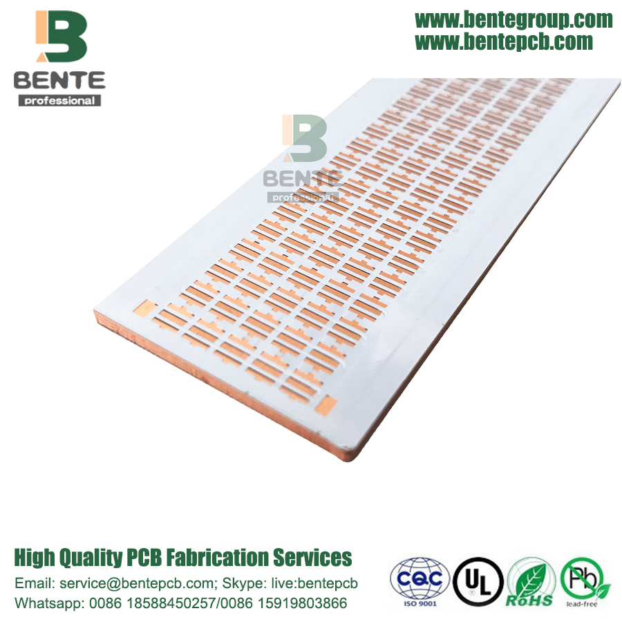 Copper Base 2 Layers PCB Metal PCB White Ink Thick Board