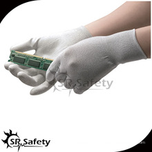 SRSAFETY 13g нейлон и углеродные ПУ с покрытием ESD ладонные перчатки