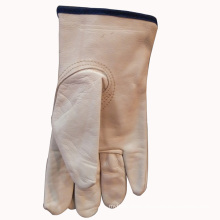 Driver′s Leather Gloves with Black Tip
