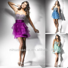 Chic Sweetheart Sequin Tiered Skirt Short Mini Pleat Graduation Dress Homecoming Gown