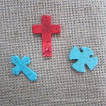Крест кулон, мода бирюзовый крест
