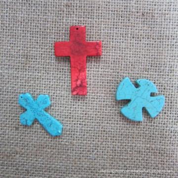 Kreuz Anhänger, Mode Türkis Kreuz