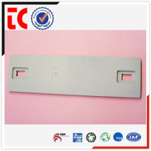 China famous aluminium die casting parts / adc12 aluminum casting part / white painted equipment plate