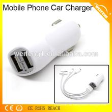 Cargador de batería del usb del teléfono móvil de la alta calidad con el puerto dual del usb en coche usado