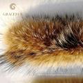 Eco-friendly natürliche Echtpelz Kapuze Trimmen Pelzkragen