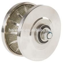 Roda perfilada de diamante galvanizado, rodas de perfil de diamante soldadas, bit de roteador de perfil