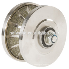 Алмазное профилирующее колесо с гальваническим покрытием, диски с алмазным профилем из паяного материала, профильное фрезерное долото