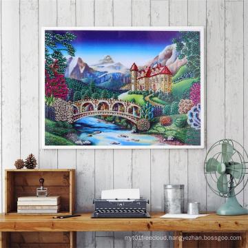 Wholesale DIY 30*40CM Dream Castle Diamond Painting for Living Room Decoration
