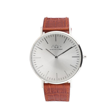 Custom Watches Stainless Steel Man Leather Wrist Watch