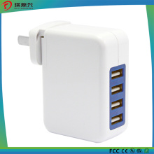4 USB Ports Travel Adapter Wall Charger 5V 4A