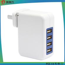 Adaptador de viagem de parede de 4 portas USB 5V 4A