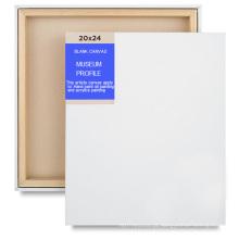 100% algodão em branco pintura lona