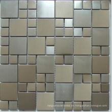 Azulejo de mosaico de metal de acero inoxidable (SM267)