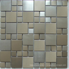 Carrelage en mosaïque métallique en acier inoxydable (SM267)