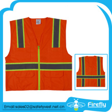 special design with strip high light reflective safety vest with pocket