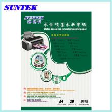 A4 De inyección de tinta agua diapositiva etiqueta papel de transferencia