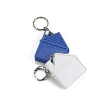 Wintape Silver Tone Metal Keychain Self Retractable Steel Blade Tape Measure 1M 3FEET
