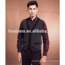 Вязание 2015 мода мужская Кашмир кардиган жилет