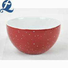 Großhandelsrestaurant runde Suppe gedruckte keramische Reisschüssel