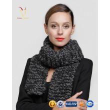 Caxemira pescoço personalizado logotipo Merino lã cachecol personalizado