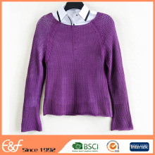 Cut Fashion Crew Neck Lady Sweater For Women Sexy In Spring