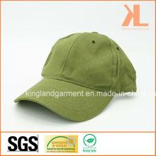 Baumwollbohrgerät Armee / Militär Olivgrün Plain Baseball Cap