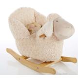 plush soft sheep rocking chair