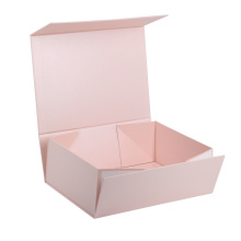 Wholesale custom logo cardboard pink gift paper packaging flat folding collapsible magnetic boxes