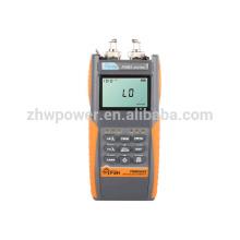 FHM2A02 Conjunto de prueba de pérdida óptica, medidor de potencia de fibra y fuente láser, Multímetro óptico con menú inglés