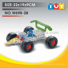 DIY metal racing car play toy for kids