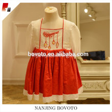 Summer embroideried dress long -sleeve christmas remaked
