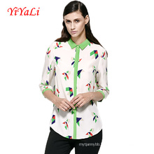 Wholesale Women Blouse Summer Fashion Printing Women Shirts.
