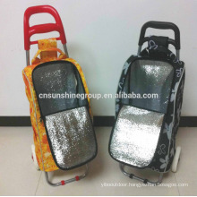 Insulated shopping trolley