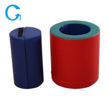 Brinquedo educativo azul de jogo macio interior cilíndrico