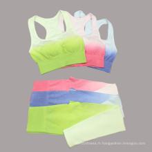 Pantalon de yoga de sport de couleur dégradée Pantalon de course d'entraînement