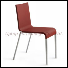 Red Stacking Plastic Chair with Aluminum Leg (SP-UC166)