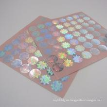 Etiqueta engomada del holograma del cambio del color 3D