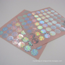 Etiqueta de holograma de mudança de cor 3D