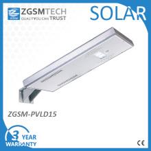 Lámpara de calle solar integrada impermeable de 15W