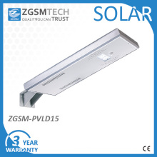 15W All-in-One Intergrated jardin solaire d'éclairage LED Street Light