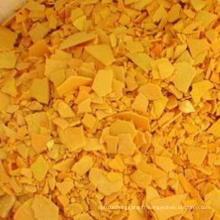 Flocons jaunes 60% de sulfure de sodium pour la qualité industrielle