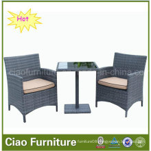 Rattan 1+2 Coffee Set with Cushion for Outdoor (CF1203)