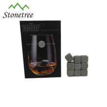9 Pcs whisky stone with velvet bag for cold drink ice cube rocks whiskey gift