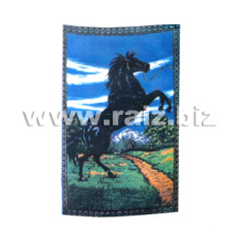 Polar Fleece Blanket with Horse Printed