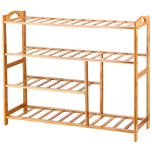 Bamboo 4-Tier Shoe Rack 10-13 pares Entryway Shoe Shelf Shelf Organizador de almacenamiento