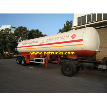 Remorques de transport de gaz propane 48cbm 20MT