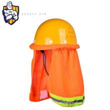 Outdoor Construction Site Hard Hat Sun Shade Safety Mesh Reflective Helmet Brims
