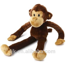 Diseño personalizado brazos largos y piernas juguete de felpa mono